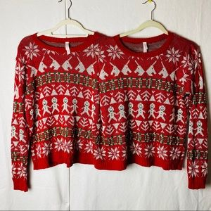 Xhilatation two person Christmas sweater~one size